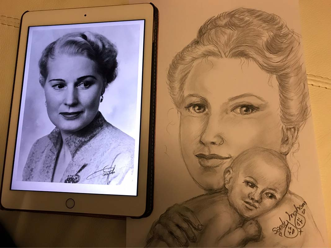 Sandy Portrait and Photo of Annie Nanji with Baby