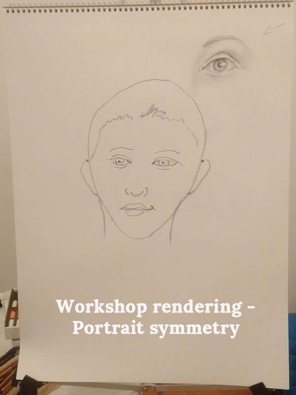 Workshop rendering - Portrait symmetry